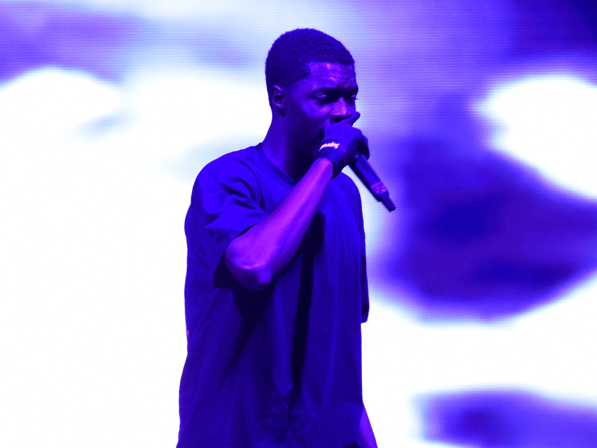 Sheck Wes performs at Little Caesars Arena in Detroit, Wednesday, Dec. 5, 2018.  (Jose Juarez/Special to Detroit News)