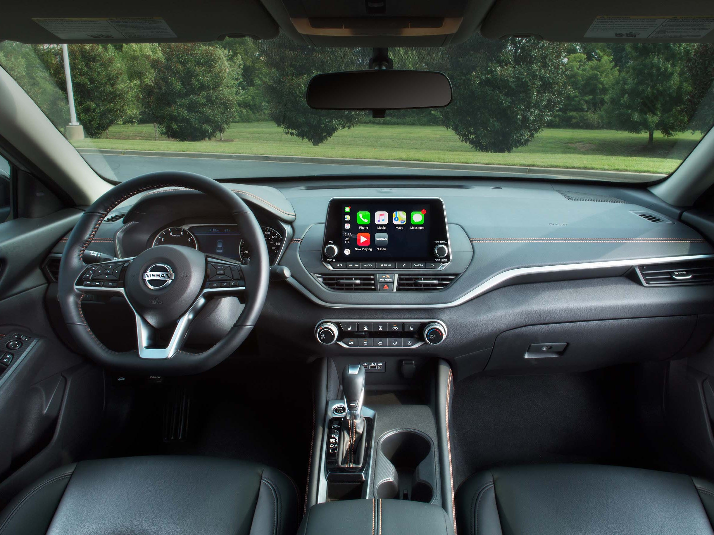 The 2019 Nissan Altima is equipped with a handsome, ergonomically efficient interior: infotainment is high in driver's eye view, great console cubby space and lots of tech including smartphone app connectivity for navigation.