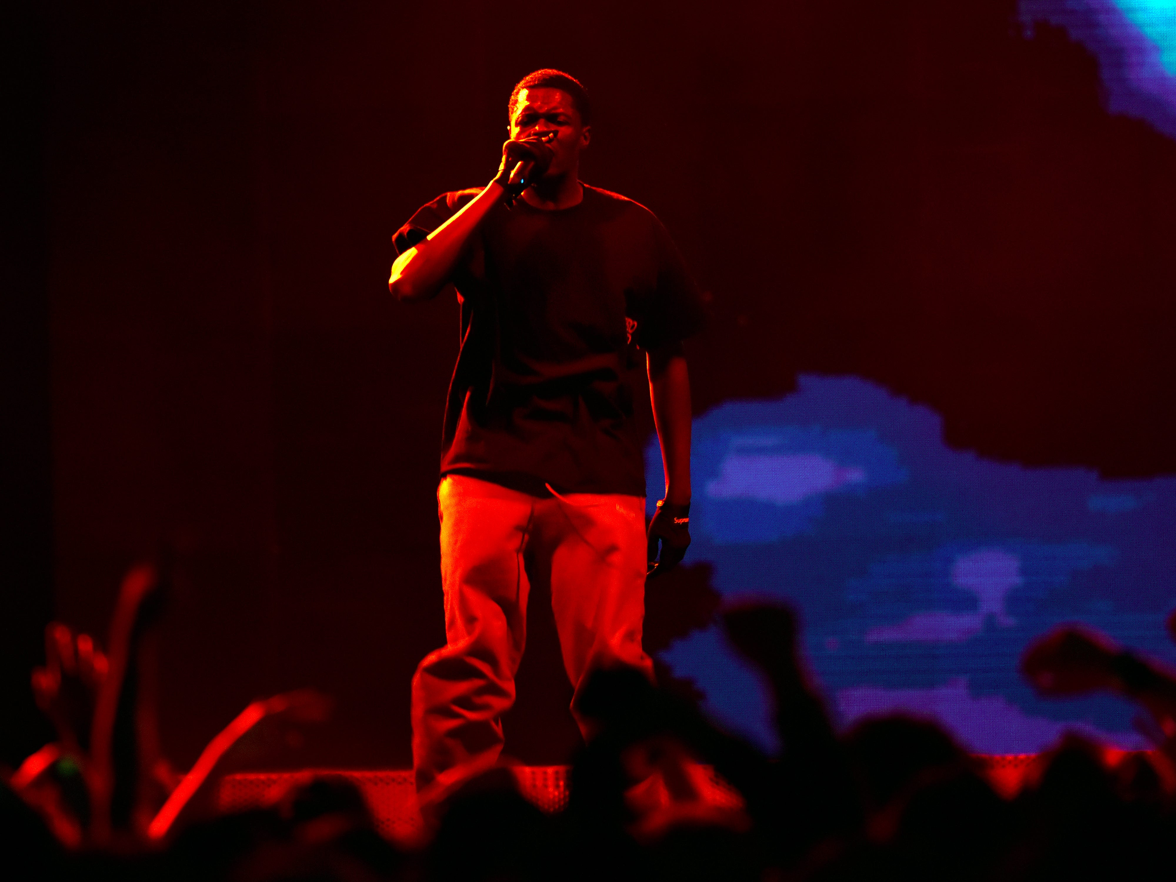 Sheck Wes performs.