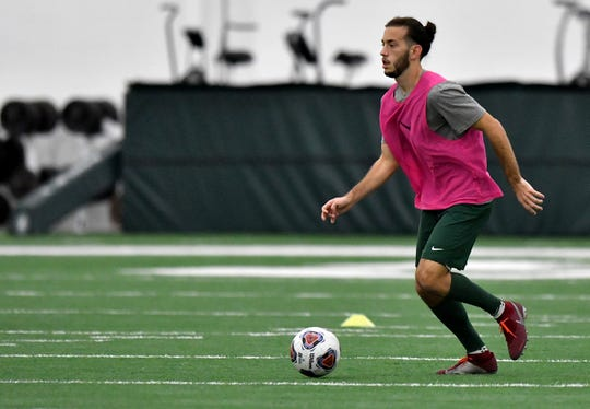 Giuseppe Barone, Big Ten midfielder of the year, led Michigan State to the College Cup.