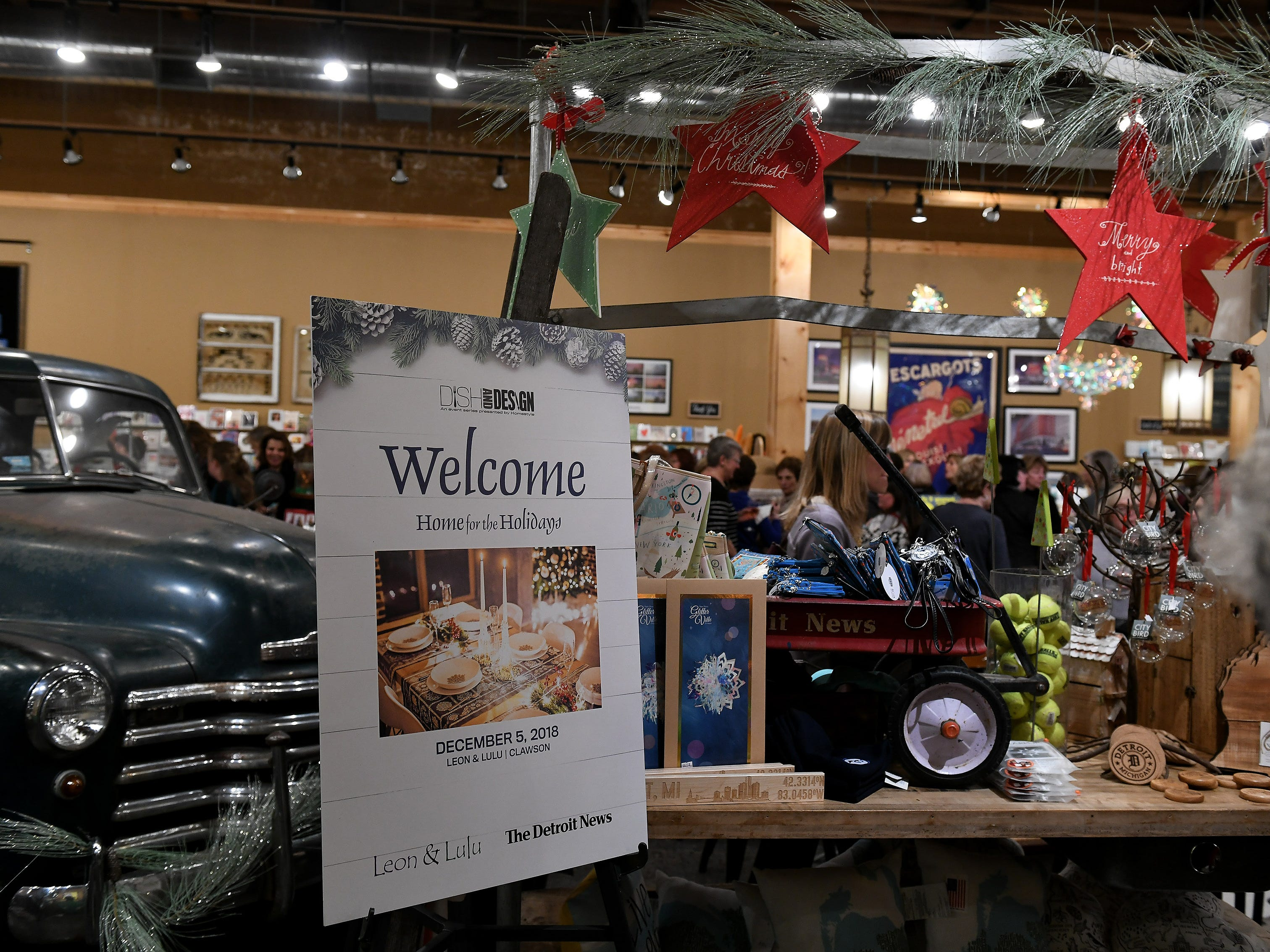 The welcome sign at the Home for the Holidays event.