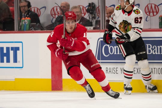 a46481185bd Detroit Red Wings prospect Filip Zadina will get shot in NHL before ...