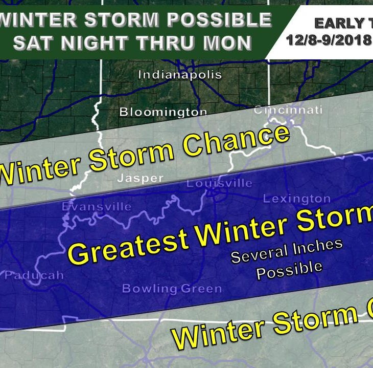 'Sizable' snowstorm moving into Evansville, Henderson this weekend