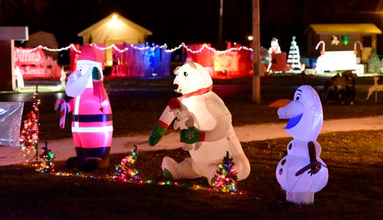 The 2018 Sandusky County Fairgrounds Winter Wonderland is open for drive-thru only from 6 to 8 p.m. Thursdays and Sundays, while visitors can walk around the grounds on Fridays and Saturdays from 6 to 9 p.m.