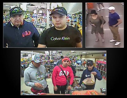 Police say these people we caught be store surveillance video using credit cards, debit cards, or checks stolen from vehicles parked at Fort Collins or Larimer County parks or natural areas.
