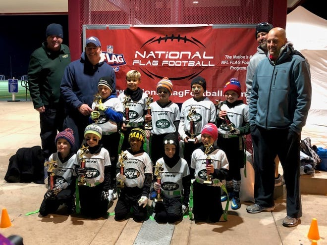 The Windsor Jets U7 flag football team will play in a national tournament in Orlando, Fla., later this month. The team will be of 120 teams from the U.S., Canada, Mexico and Panama. Team members are front row from left are Hayden Matkin, Keegan Hull, Jaden Smith, Porter Schilling and Jonah Rivera. Back row from left are Mason Lehrer, Mason Vela, Jaxon Felker, Cache Kershaw and Walker Strohman.