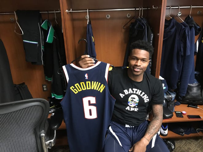 Former FGCU guard Brandon Goodwin became the first Eagle to make an NBA roster as the Denver Nuggets brought him up from the Memphis Hustle of the G-League on Nov. 29.