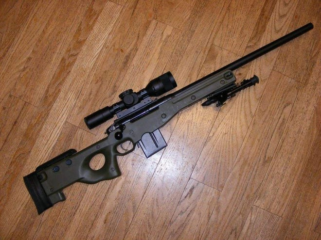 An Accuracy International AT 308 rifle, like the one shown here, was stolen Tuesday from an unlocked Sarasota County Sheriff's Office SWAT team member. The rifle was recovered.
