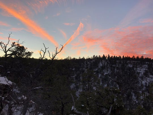 The sun sets on Patrick Durkin's elk hunt Dec. 5.