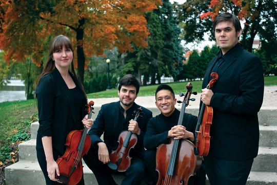 The Midsummer's Music resident string quartet will perform two free concerts this weekend in Sturgeon Bay and Egg Harbor.