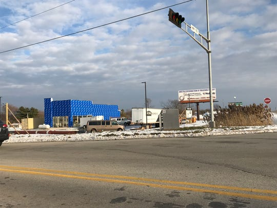 A standalone Taco Bell is under construction at the northeast corner of State 172 and Babcock Road in Ashwaubenon.