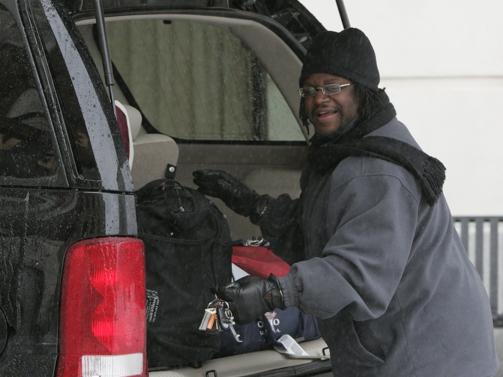 Dexter Casen, volunteered to transport a gospel singing group from the Westin Poinsett to GSP despite the snow and ice, simply because he was need, Saturday, January 29, 2005.