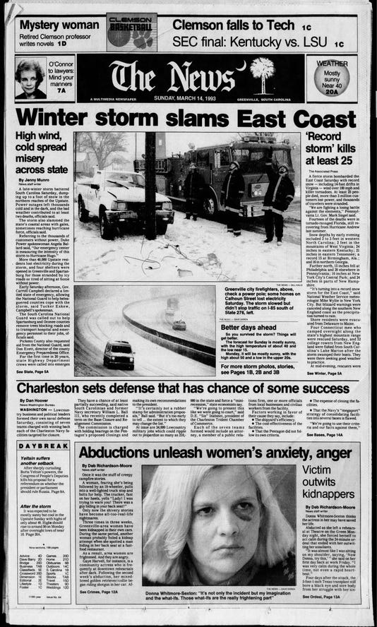 The Greenville News Sun Mar 14 1993