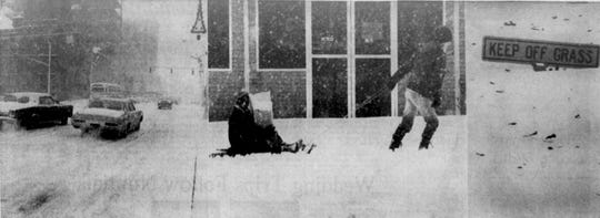 Snow storm photos from the Dec. 4, 1971 edition of The Greenville News.