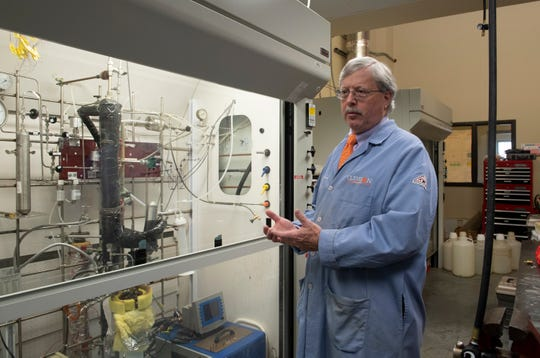 Clemson University Professor Joe Thrasher talks about the tools in one of his labs in Anderson Thursday, Dec. 06, 2018.