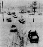 Snow made Stone Avenue slippery for Greenville motorists as pictured in this archive photo from the Dec. 4, 1971 edition of The Greenville News.