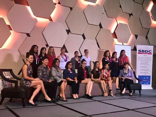 Guam Women's Chamber of Commerce board members pose with the 2019 board nominees at the Dusit Thani on Thursday, Dec. 6.