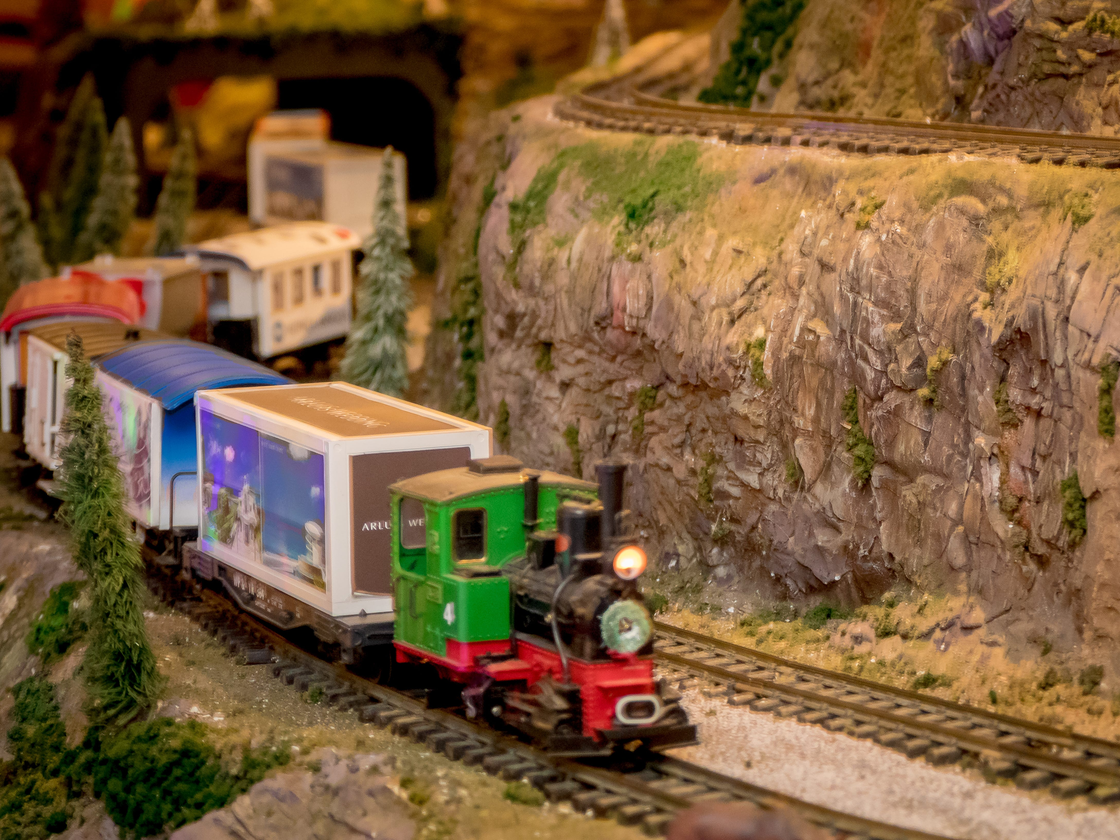 "Hilton Guam Resort and Spa transforms their lobby displaying train sets, miniature local sites, train landscapes, and advertising from local companies.  Sponsorship at the ""Holiday Train"" benefits a local charity Victim Advocates Reaching Out."