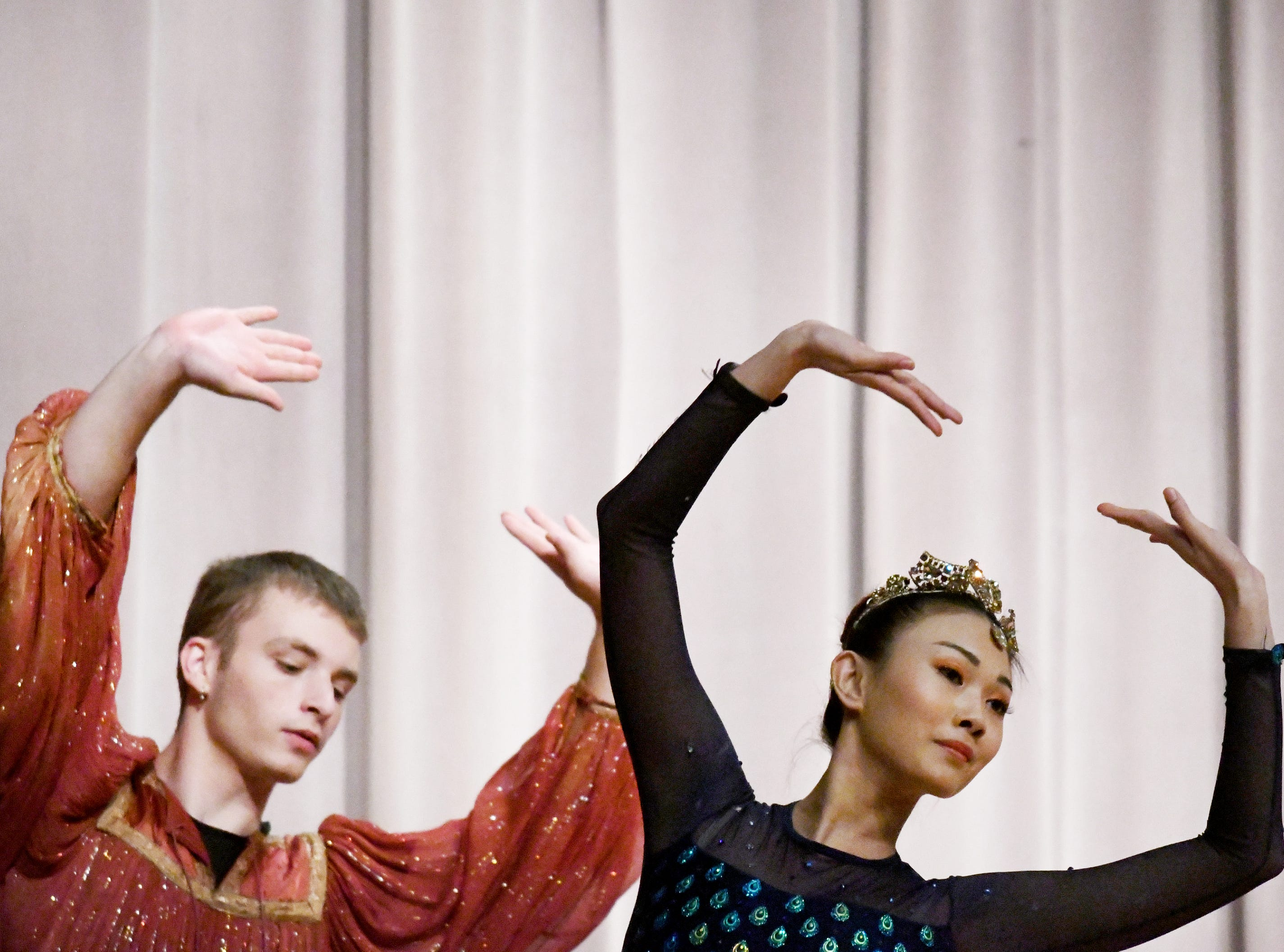 The South Mississippi Ballet Theatre performs parts of the Nutcracker for students at Rowan Elementary on Thursday, December 6, 2018.