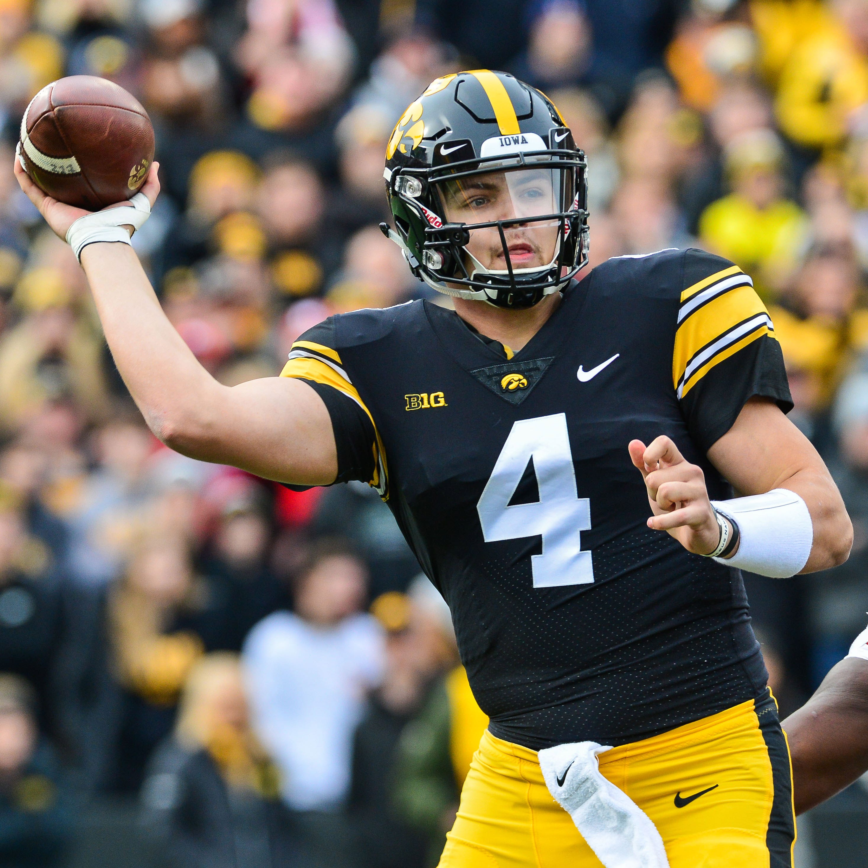 Nate Stanley carries a 16-9 record as an Iowa...