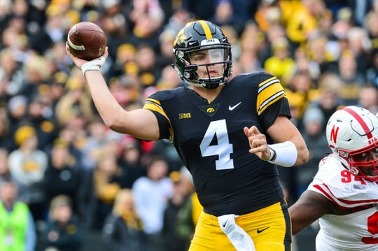Nate Stanley carries a 16-9 record as an Iowa starter and 49 career touchdown passes into the Jan. 1 Outback Bowl.