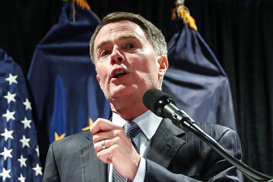 Indianapolis Mayor Joe Hogsett Announces Running For Re Election At Phoenix Theatre In Indianapolis Wednesday Dec 5 2018