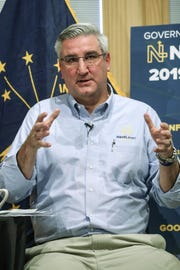 Gov. Eric Holcomb says fighting the opioid crisis remains a priority.