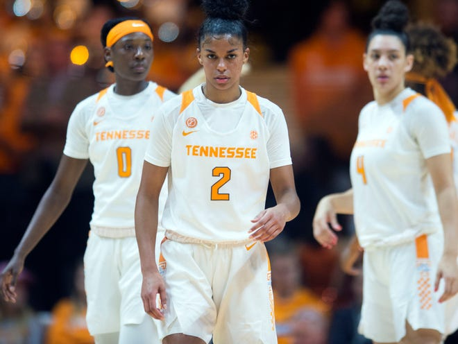 Tennessee's Evina Westbrook (2) has delivered production and leadership like never before for her in the Lady Vols' last four games.