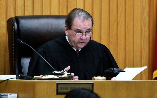 Knox County Criminal Court Judge Bob McGee denied several motions in Harlan Ferguson vehicular homicide case Thursday, Dec. 6, 2018. Ferguson's case stems from a crash that occurred after a car chase by Knox County sheriff's deputies.