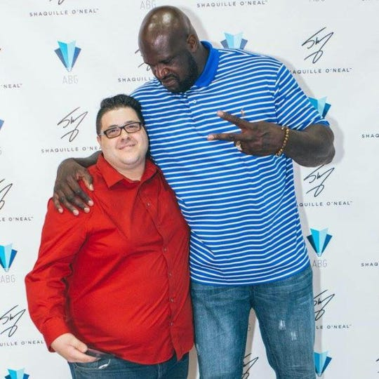Domenick Nati with Shaq.