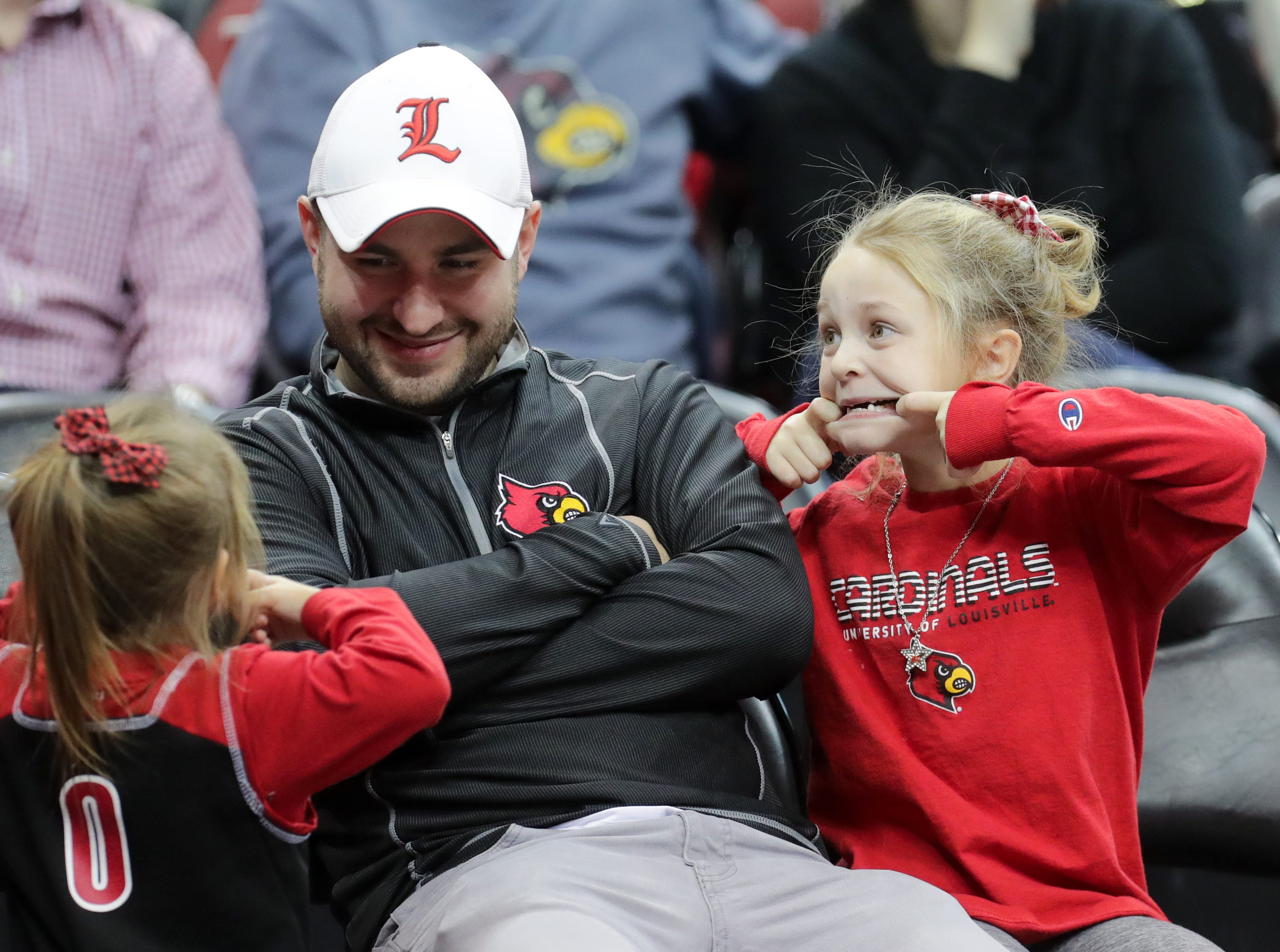 Louisville's fans have a little fun during a timeout. 