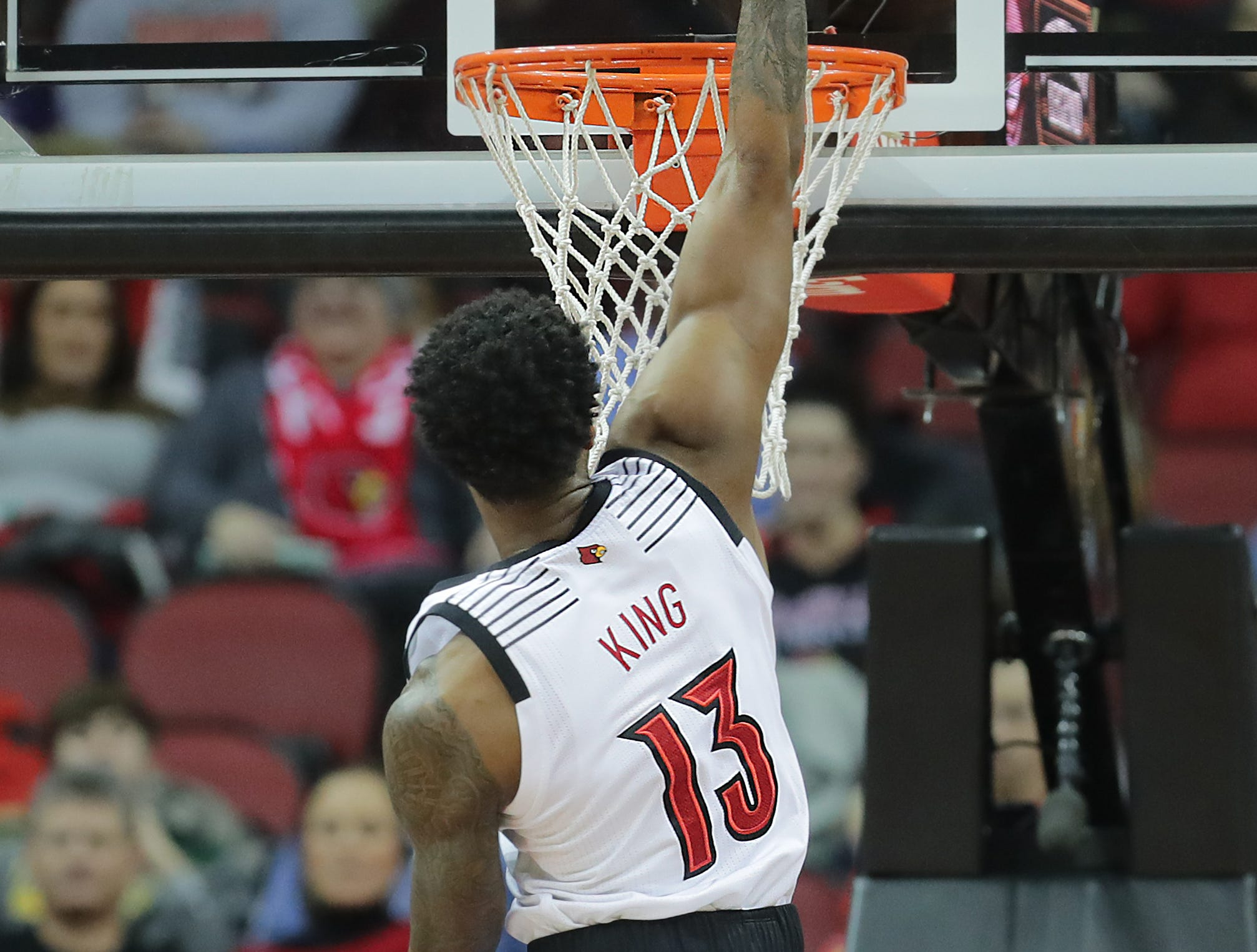 Louisville's V.J. King with the dunk. 