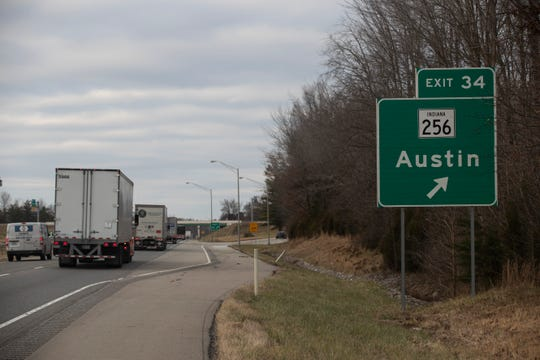 Exit 34 to Austin, Indiana, off of Interstate 65. Dec. 5, 2018