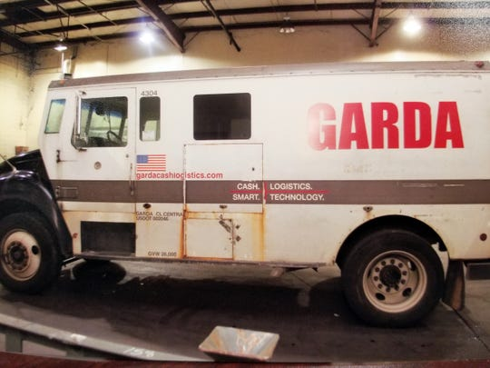 Armored truck that Mark Espinosa was driving before he went missing along with cash from the truck.