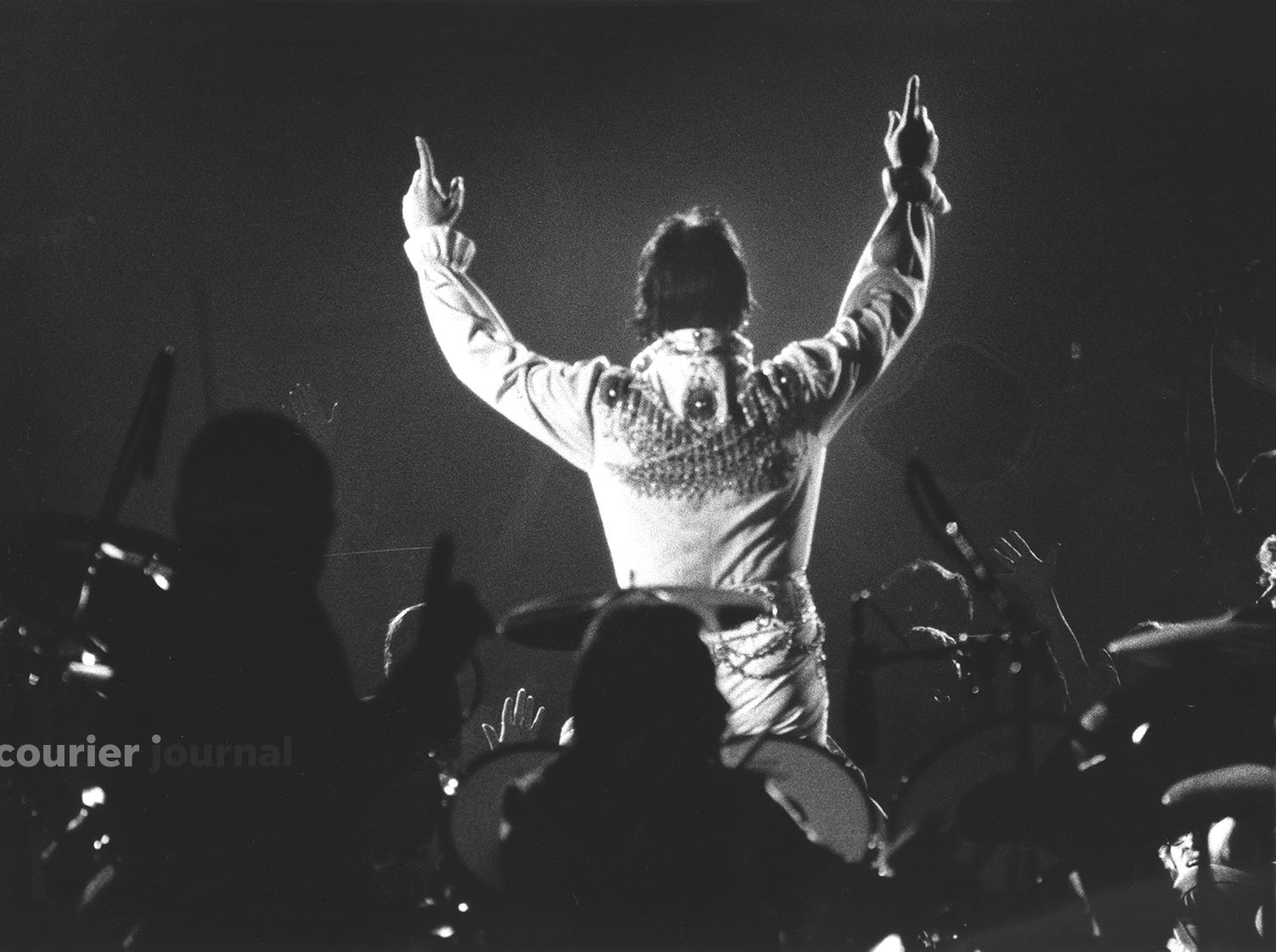 Elvis Presley performs at Louisville's Freedom Hall.  l June 24, 1974.