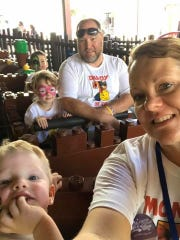 The Bowen family at the Magic Kingdom in October, 2018. Greyson, 2, in the foreground with Natasha Bowen while Lily, 5,  is next to her father, Chris. Eli, 7 is in the back.