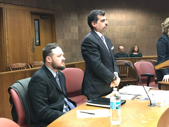 Patrick Daley, left, sits next to his attorney, Raymond Correll, at a preliminary hearing Dec. 6, 2018.