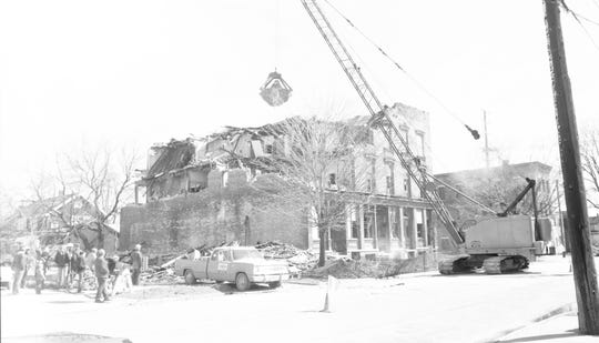 Windiate House, 606 York St., Manitowoc, being torn down on April 15, 1974.