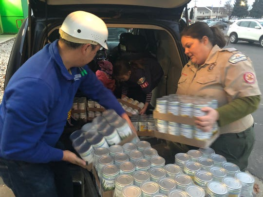 Lakeside Foods donated 240 cans of vegetables to the scouting food drive for Giving Tuesday.