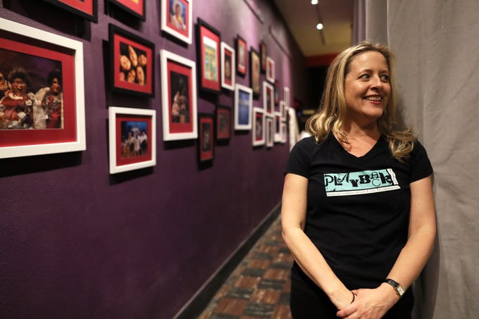 Virginia Reed Murphy in the hall of the Playback Theatre where she has lead an acting troop for the last ten years in the Cooper-Young neighborhood on Saturday, Dec. 1, 2018.