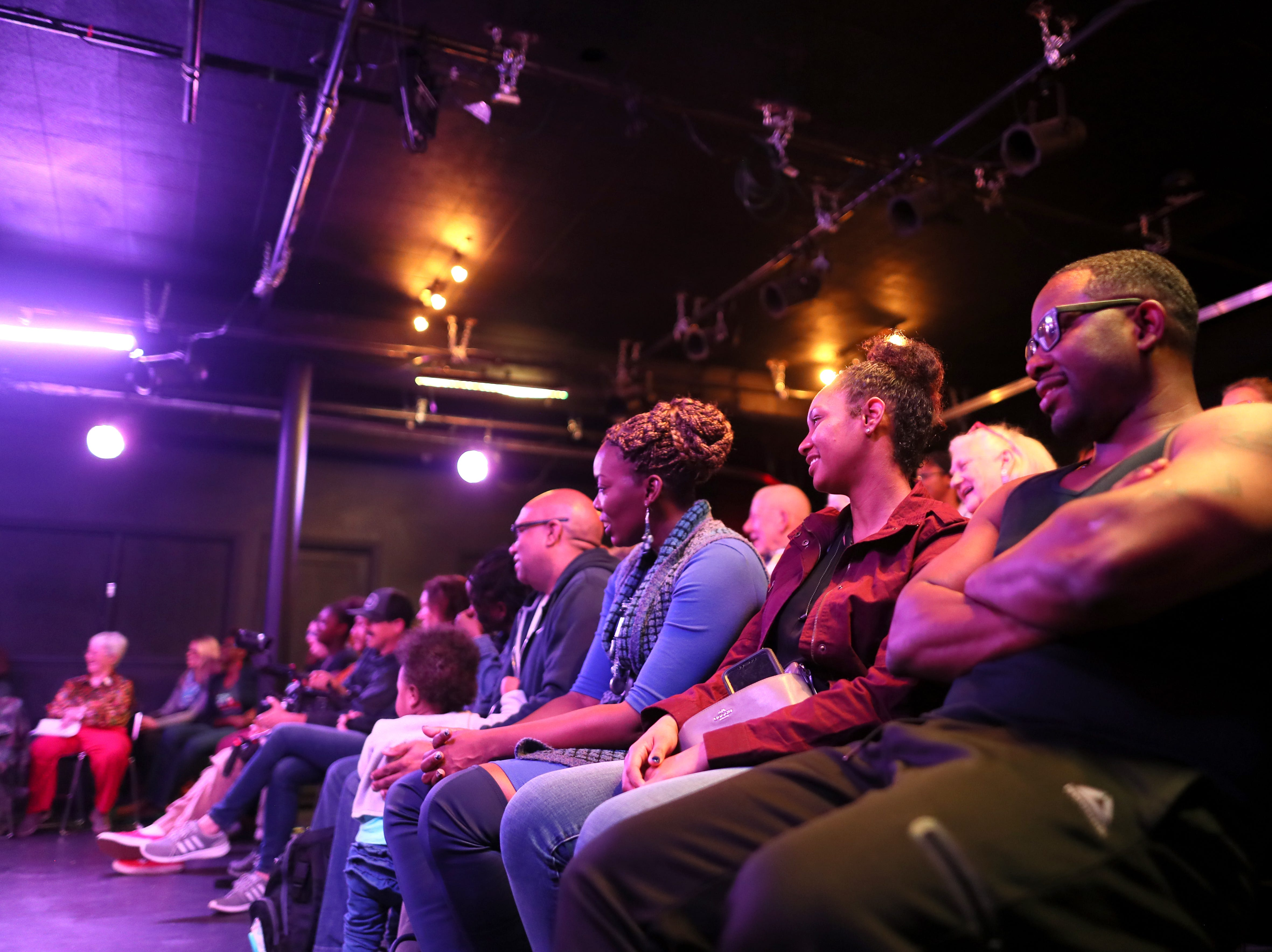 Audience members watch the show at the Playback Theatre in the Cooper-Young neighborhood on Saturday, Dec. 1, 2018.