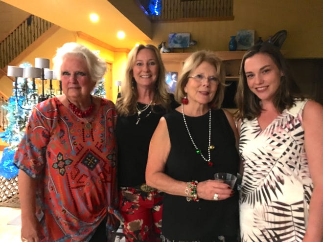 2018 Christmas Home Tour homeowners, pictured from left, are Sandy Wallen, Wendy Morell, Linda Turner and Brittany Stoller.