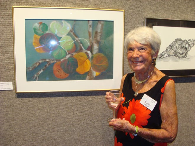 A reception for an exhibition that honors late Marco artist Marian Miller takes place today, from 5:30-7 p.m. at the Art Center on Winterberry Drive. Miller died one year ago at age 89.