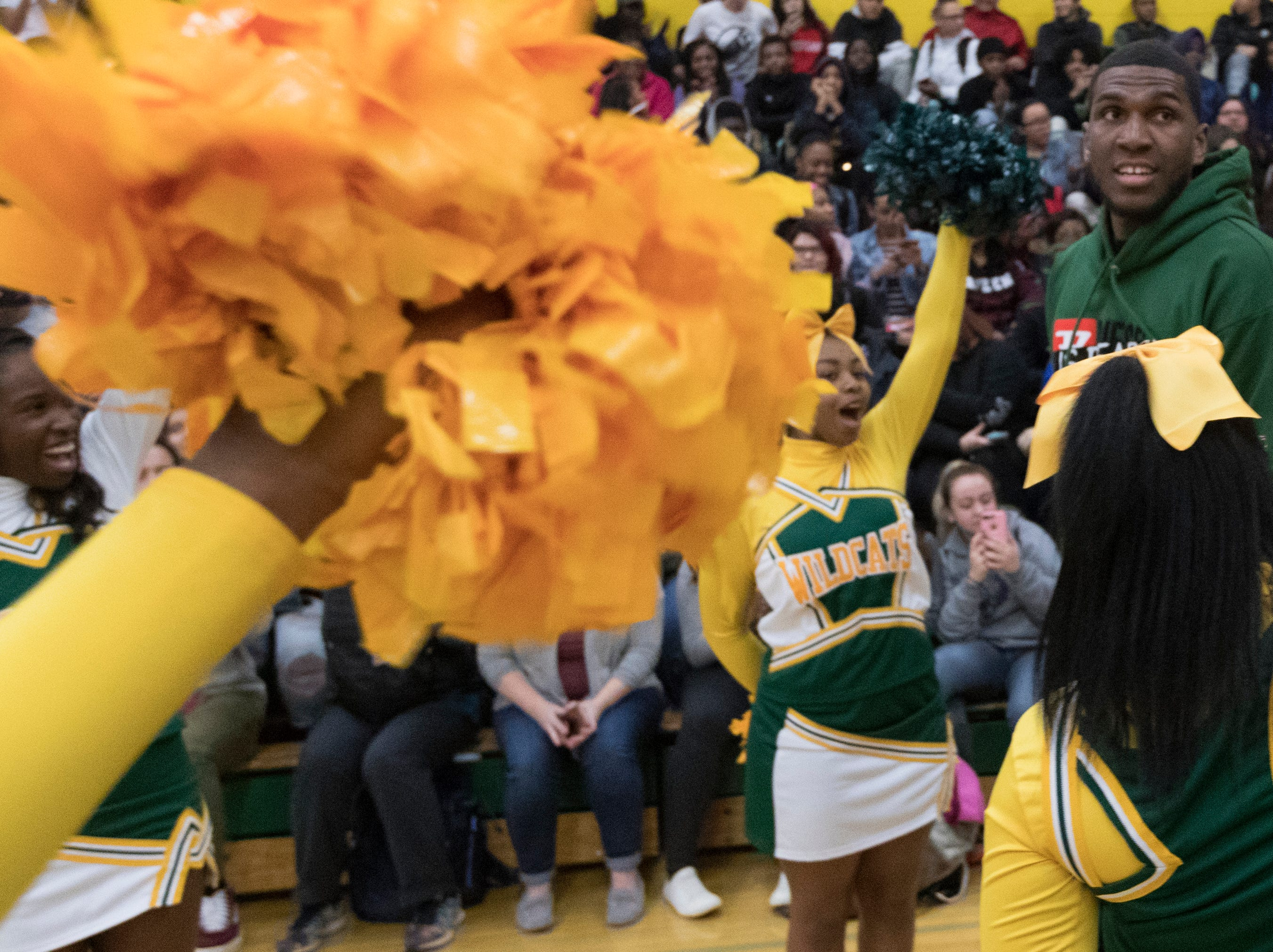 Golden State Warrior center Kevon Looney takes part in a ceremony where his jersey is retired  Thursday, December 6, 2018 at Hamilton High School.