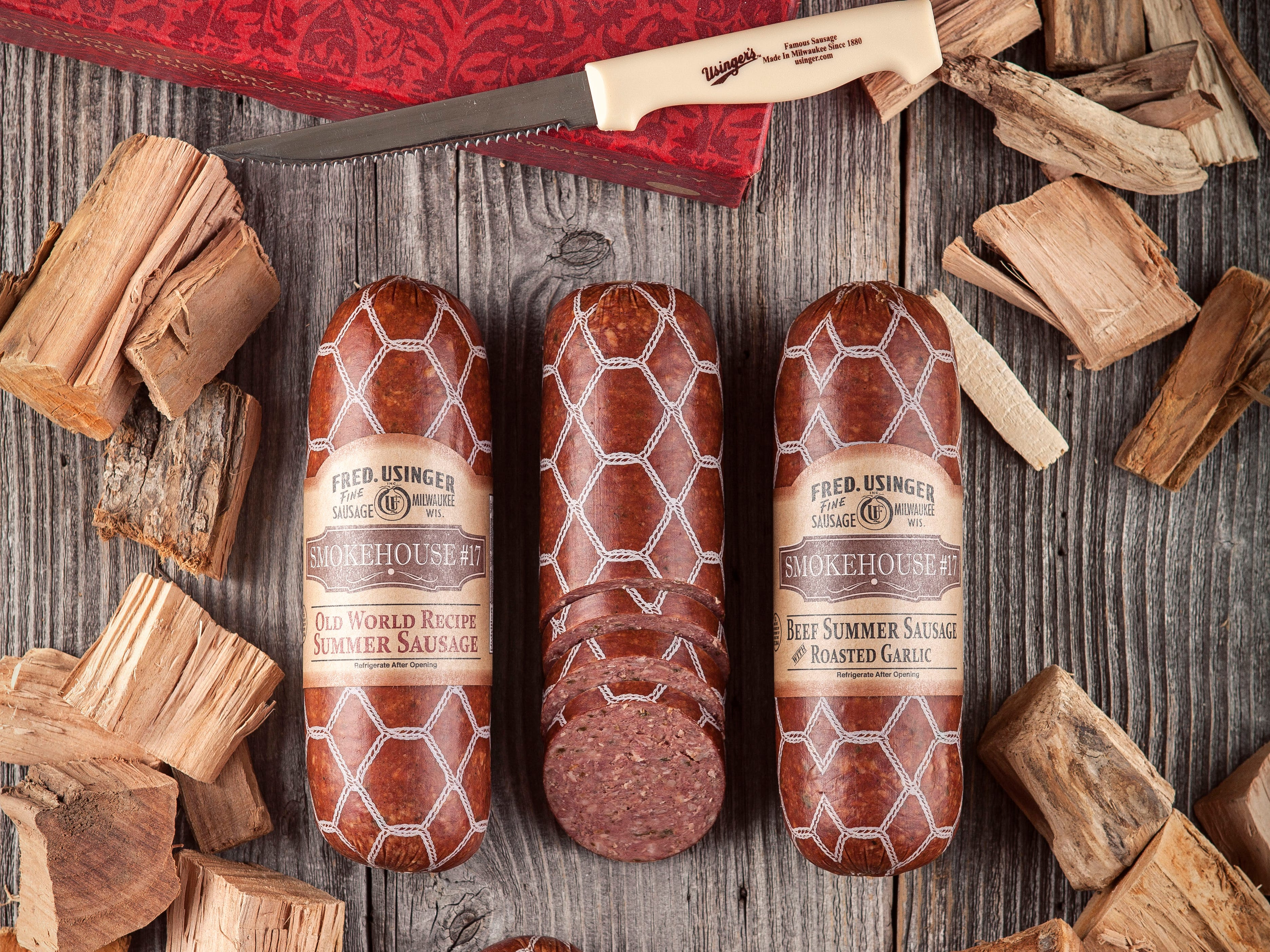 Some of the once-a-year sausages might be at Usinger's retail shop at 1030 N. Old World Third St., or they might not. The surest way to obtain them is through holiday gift boxes.