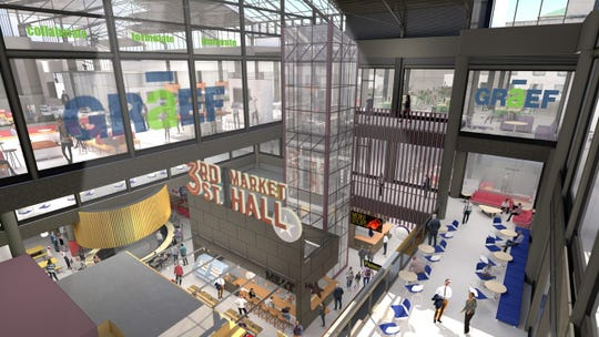 New offices at The Grand will be on the upper floors, and will overlook the new 3rd Street Market Hall. Along with Graef USA, other businesses have signed letters of intent to lease space at The Grand.