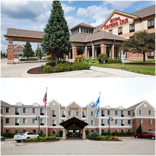 Staybridge Suites and Hilton Garden Inn, both in Pabst Farms in Oconomowoc, were recently sold.