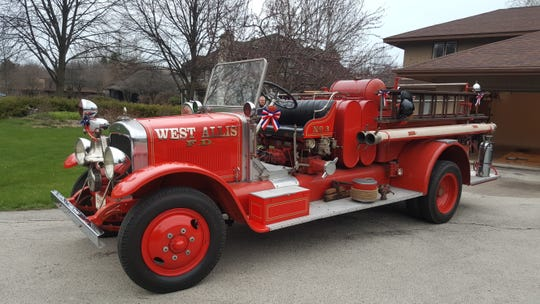 The West Allis Fire Department has raised enough money to buy this 1930 Pirsch pumper truck that was used by the department from 1930 to 1972. The truck has been in the hands of private collectors since it was decommissioned.