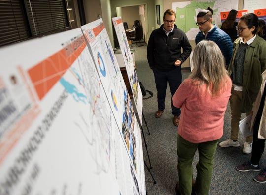 Auburn students present findings on historical neighborhood preservation surveys they did in Montgomery, Ala., on Thursday, Dec. 6, 2018.