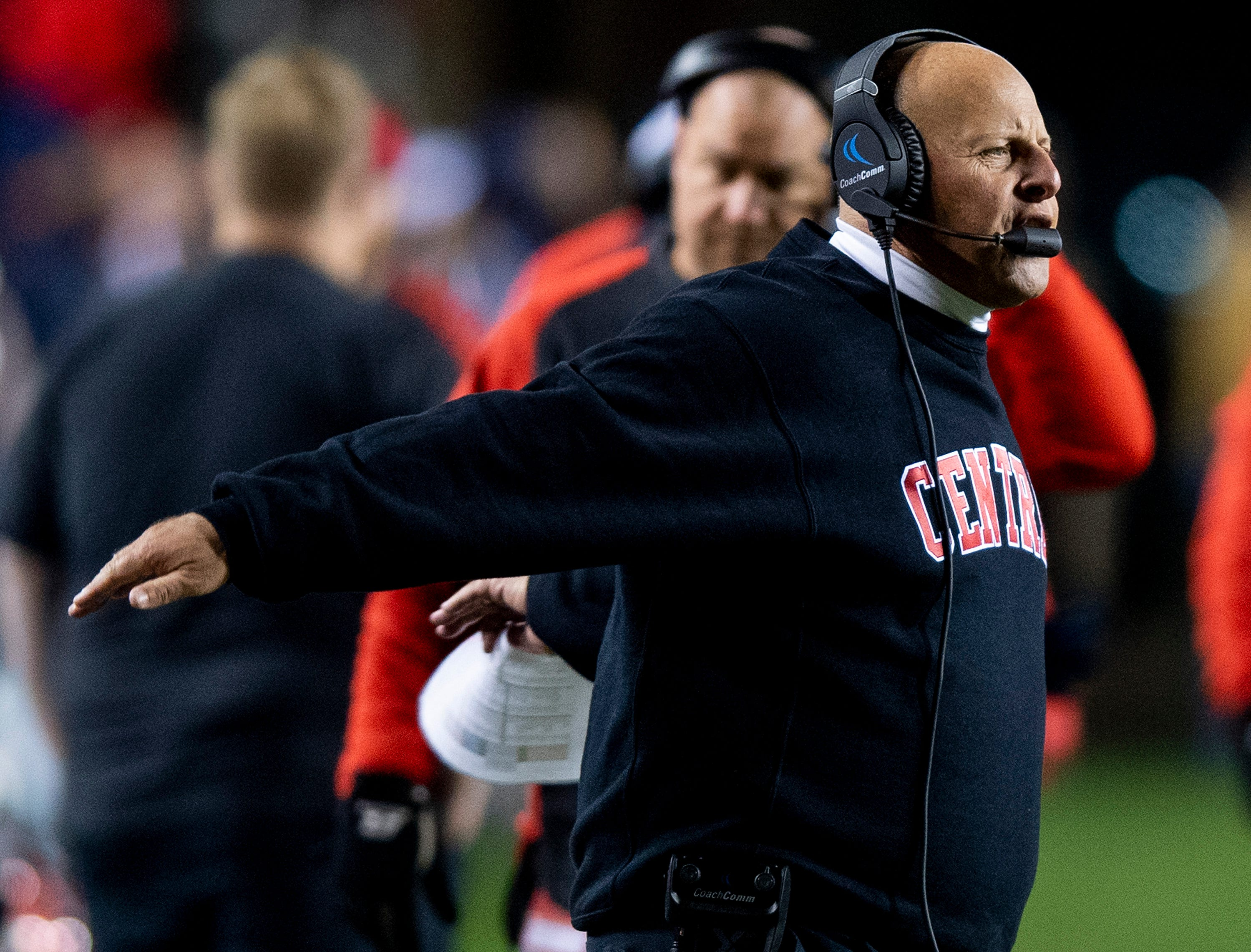 Central-Phenix City coach Jamey DuBose during the AHSAA Class 7A State Championship Football Game at Jordan Hare Stadium in Auburn, Ala., on Wednesday evening December 5, 2018.